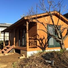 ご自宅の離れ・ゲストハウスにぴったり ミドルサイズのミニログキットハウス(静岡県・伊豆の国市)