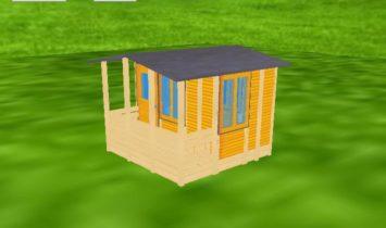 ログハウス 3D図1