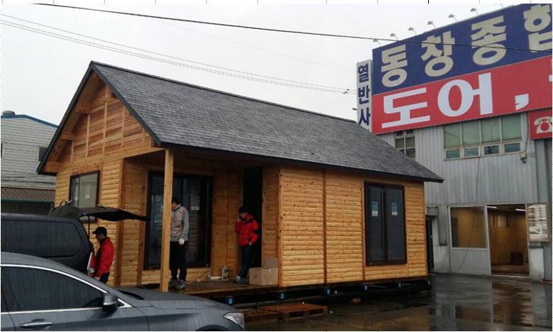 韓国 ログハウス
