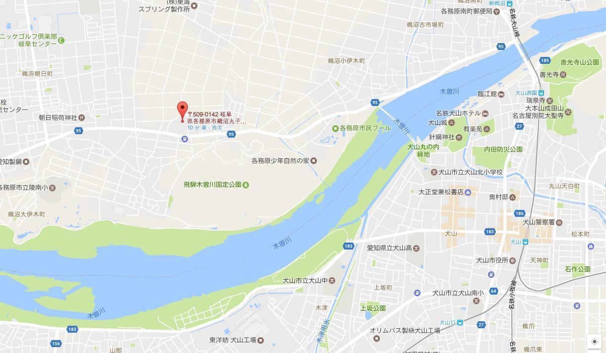 伊木山ログハウス地図